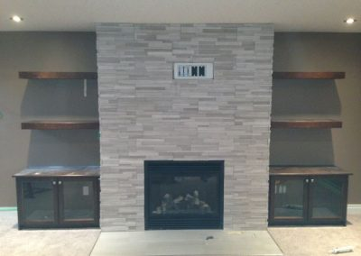 Book Case - Fireplace - Entertainment Unit - Custom Cabinets Moose Jaw