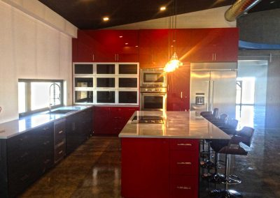 Acrylic Gloss Red Thermofoil Kitchen Cabinets Moose Jaw