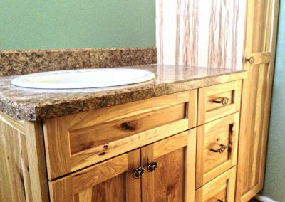 Natural Wood Hickory Bathroom Vanity Cabinet Moose Jaw