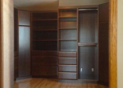 closet-cabinets-dark-stain-moose-jaw-sasktchewan