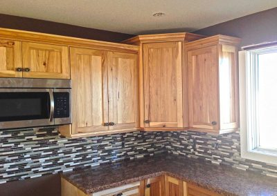 Hickory Natural Wood Kitchen Cabinets Moose Jaw