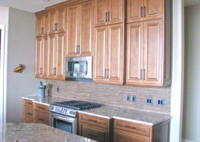 Maple Natural Wood Kitchen Cabinets