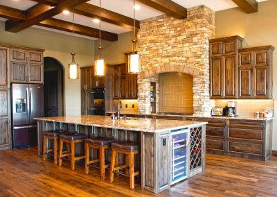 Natural Wood Custom Quality Kitchen Island Cabinets