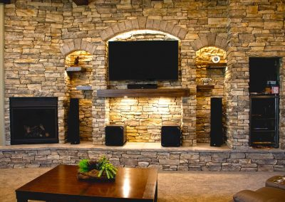 Moose Jaw - Regina - Custom Stone Entertainment Unit