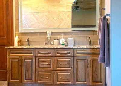 Natural Wood Bathroom Custom Cabinets Moose Jaw