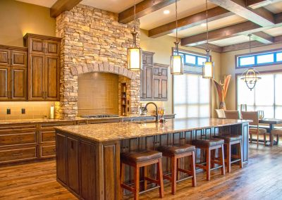 Natural Wood Custom Quality Kitchen Cabinets
