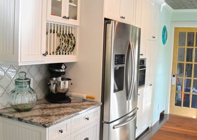 painted-wood-kitchen-cabinets-shaker-beadboard-wood-countertop